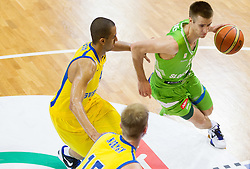 Jonathan Person of Sweden vs Matej Rojc of Slovenia during basketball match between National teams of Sweden and Slovenia in First Round of U20 Men European Championship Slovenia 2012, on July 13, 2012 in Domzale, Slovenia. (Photo by Vid Ponikvar / Sportida.com)