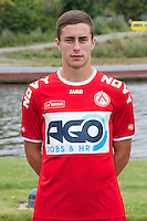 Kortrijk's Adam Marusic poses for the photographer during the 2014-2015 season photo shoot of Belgian first league soccer team KV Kortrijk, Tuesday 08 July 2014 in Kortrijk.