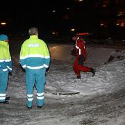 Kind vermist Gooimeer Huizen.brandweerduiker, ambulance, sneeuw, kou