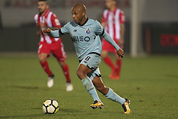 November 25, 2017 - Aves, Guimaraes, Portugal - Porto's Algerian midfielder Yacine Brahimi (L) controls the ball during the Portuguese league football match CD Aves vs FC Porto at the Aves stadium in Aves on November 25, 2017. (Credit Image: © Dpi/NurPhoto via ZUMA Press)
