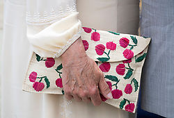 Handbag used by the Duchess of Cornwall during a one day visit to the Caribbean island of Grenada.