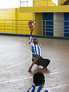 Jean Paul Ngilimana is playing sitting volley ball. He is a member of the National Paralympic Committee (NPC). NPC works with disabled people and sport throughout Rwanda, from grass roots to international level, using sport as a means of social integration.