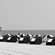 Umbrellas at Virginia Beach, VA.