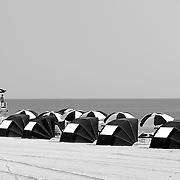 Umbrellas at Virginia Beach, VA.