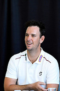 One Day and T20 captain Jim Allenby in the press conference during the Somerset County Cricket Club PhotoCall 2017 at the Cooper Associates County Ground, Taunton, United Kingdom on 5 April 2017. Photo by Graham Hunt.