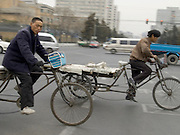 China Beijing people on there way to work