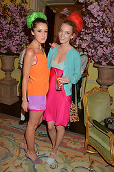 Left to right, ROSANNA FALCONER and GEORGIE MACINTYRE at the Tatler Best of British party in association with Jaegar held at The Ritz, Piccadilly, London on 28th April 2015.