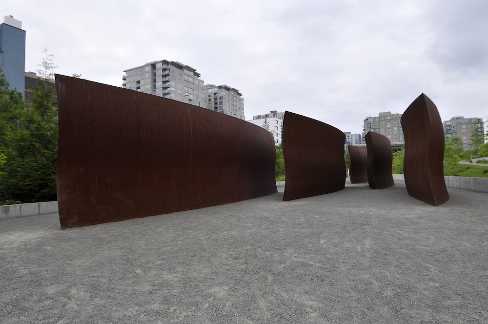 Wake, By Richard Serra, 2004, Olympic Sculpture Park run by Seattle Art Museum, Seattle, Washington, USA
