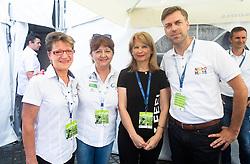 Sonja Gole, Mojca Novak, Maja Pak, Gregor Macedoni during 5th Stage of 26th Tour of Slovenia 2019 cycling race between Trebnje and Novo mesto (167,5 km), on June 23, 2019 in Slovenia. Photo by Vid Ponikvar / Sportida