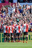 ROTTERDAM - Feyenoord - SC Heerenveen , Stadiond de Kuip , Voetbal , Eredivisie Play-offs Europees voetbal, seizoen 2014/2105 , 24-05-2015 , Feyenoord speler Anass Achahbar scoort de 1-0 en viert dit met het hele team