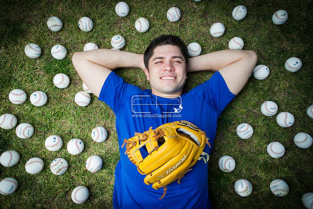 January 9, 2013. Lakewood, California. Travis d'Arnaud, catcher fot the New York Mets. Pictured at Lakewood High School..Photo Copyright John Chapple / www.JohnChapple.com