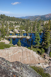 """Pond Near Loch Leven Lakes 2"" - Photograph of a scenic view and a pond near Loch Leven Lakes in the Tahoe National Forest."