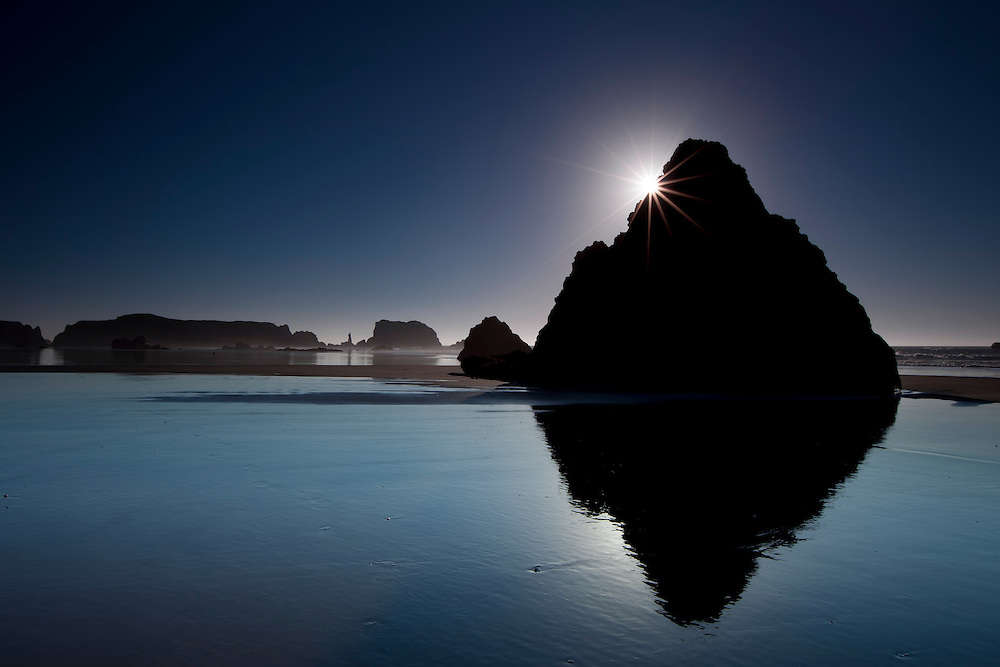Monolithic rock on Bandon Beach on the Orgon Coast