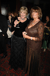 Left to right, ANNABEL ELLIOT and LADY ANNABEL GOLDSMITH at The Diner Des Tsars in aid of Unicef to celebrate the launch of Quintessentially Wine held at the Guildhall, London EC2 on 29th March 2007.<br />