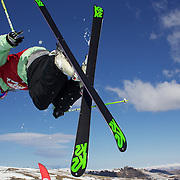 Brita Sigourney, USA,  in action in the Women's Halfpipe Finals during The North Face Freeski Open at Snow Park, Wanaka, New Zealand, 3rd September 2011. Photo Tim Clayton...