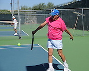 Clients play tennis at the West Social Center facility of Green Valley Recreation, Inc., Green Valley, Arizona, USA.