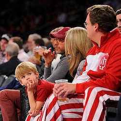 Indiana faces UConn in the 2K Sports Classic Championship game on Nov. 22, 2013 at Madison Square Garden in New York, New York.
