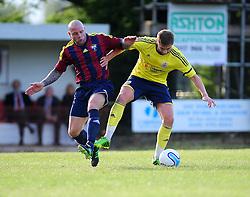 Bristol City's Steven Davies is challenged for the ball - Photo mandatory by-line: Dougie Allward/JMP - Tel: Mobile: 07966 386802 03/07/2013 - SPORT - FOOTBALL - Bristol -  Ashton and Backwell United V Bristol City - Pre Season Friendly