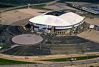 Aerial view of the original Texas Stadium, home of the Dallas Cowboys.