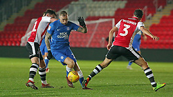 Marcus Maddison of Peterborough United in action against Exeter City - Mandatory by-line: Joe Dent/JMP - 04/12/2018 - FOOTBALL - St James Park - Exeter, England - Exeter City v Peterborough United - Checkatrade Trophy