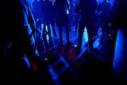 Paris, France. 4 Juin 2009.Le public attend le concert des Naive New Beaters a L'Elysee Montmartre...Paris, France. June 4th 2009..The audience waits for the Naive New Beaters' concert at L'Elysee Montmartre.