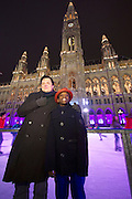 Vienna, Austria. David S. and his adopted son Raz S. in front of City Hall. They have been stuck in Vienna for months, because the German authorities confiscated Raz' passport, suddenly assuming his adoption in 2003 was not legal.
