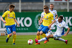 Ivan Firer of NK Domzale and Janez Pisek of NK Celje during football match between NK Celje and NK Domžale in 27th Round of Prva Liga Telekom Slovenije 2016/17, on April 1, 2017 in Arena Petrol, Celje, Slovenia. Photo by Ziga Zupan / Sportida