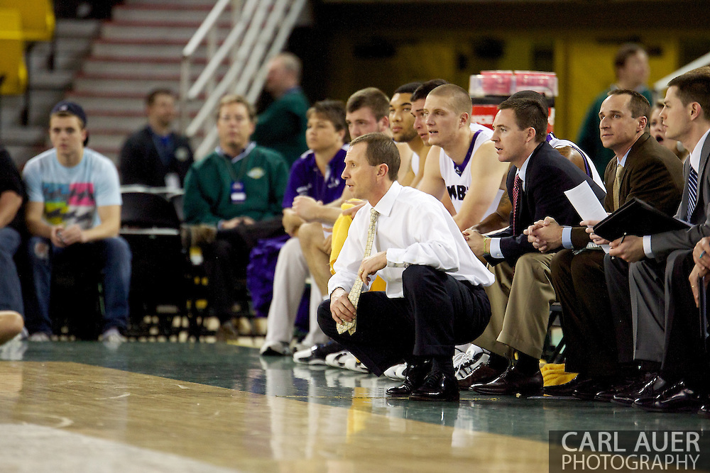 November 26th, 2010:  Anchorage, Alaska - Weber State head coach Randy Rahe in the Wildcats semi final 58-59 loss to Arizona State at the Great Alaska Shootout.