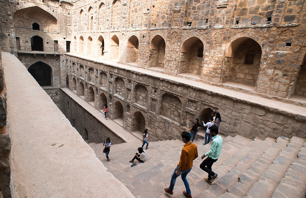 Agrasen ki Baoli is a 60-meter long and 15-meter wide historical step well in New Delhi, India.