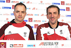 12.02.2018, Austria House, Pyeongchang, KOR, PyeongChang 2018, Pressekonferenz, im Bild Rene Friedl und Markus Prock // during a Pressconference of the Austrian Olympic Team in the Austria House in Pyeongchang, South Korea on 2018/02/12. EXPA Pictures © 2018, PhotoCredit: EXPA/ Erich Spiess