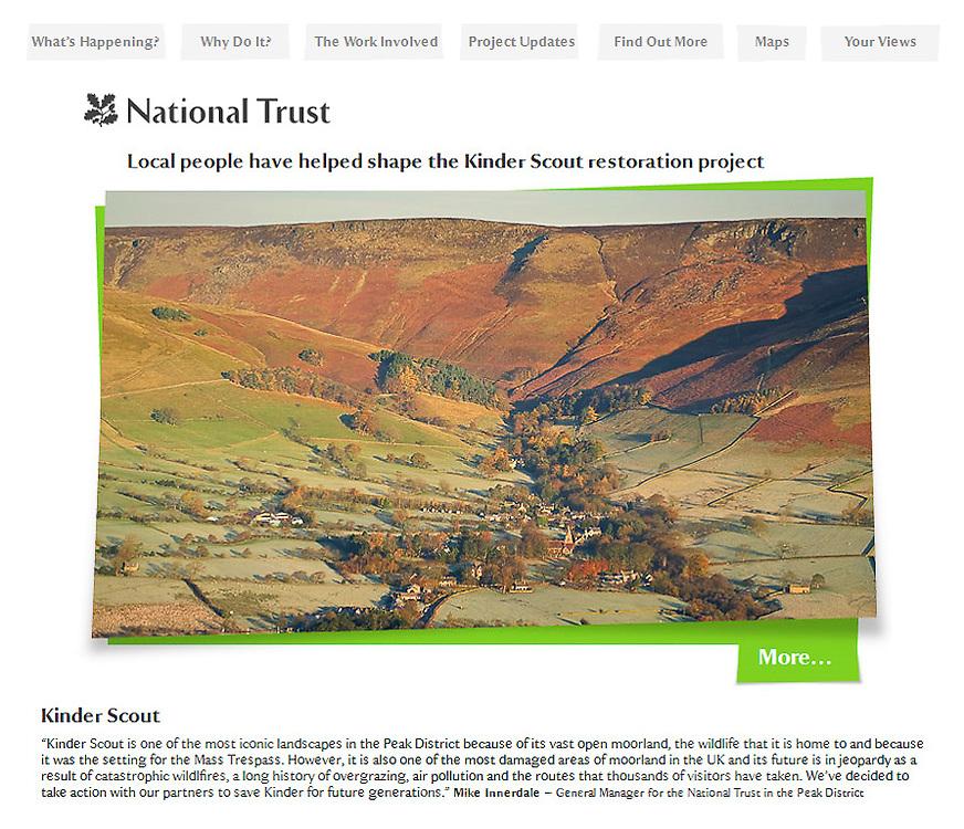 Cover image, National Trust Kinder restoration website