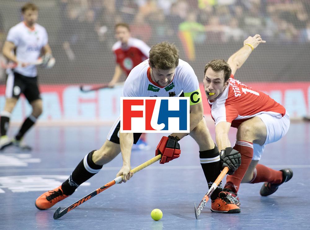 BERLIN - Indoor Hockey World Cup<br /> Final: Germany - Austria<br /> foto: Martin H&auml;ner and Benjamin Stanzl <br /> WORLDSPORTPICS COPYRIGHT FRANK UIJLENBROEK
