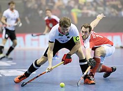 BERLIN - Indoor Hockey World Cup<br /> Final: Germany - Austria<br /> foto: Martin H&auml;ner and Benjamin Stanzl <br /> WORLDSPORTPICS COPYRIGHT FRANK UIJLENBROEK