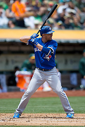 OAKLAND, CA - JULY 23:  Danny Valencia #23 of the Toronto Blue Jays at bat against the Oakland Athletics during the second inning at O.co Coliseum on July 23, 2015 in Oakland, California. The Toronto Blue Jays defeated the Oakland Athletics 5-2. (Photo by Jason O. Watson/Getty Images) *** Local Caption *** Danny Valencia
