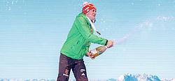 11.02.2017, Biathlonarena, Hochfilzen, AUT, IBU Weltmeisterschaften Biathlon, Hochfilzen 2017, Sprint Herren, Siegerehrung, im Bild Sieger und Weltmeister Benedikt Doll (GER, Goldmedaillen Gewinner) // World Champion and Goldmedalist Benedikt Doll of Germany during Winner Ceremony of the Mens Sprint of the IBU Biathlon World Championships at the Biathlonarena in Hochfilzen, Austria on 2017/02/11. EXPA Pictures © 2017, PhotoCredit: EXPA/ JFK