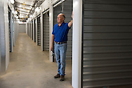 Chris Ludwig poses for a photo at his new storage unit facility in Fort Worth, Texas on July 14, 2016. (Cooper Neill for The New York Times)