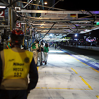 The pits at night - waiting, Le Mans 24H, 2012