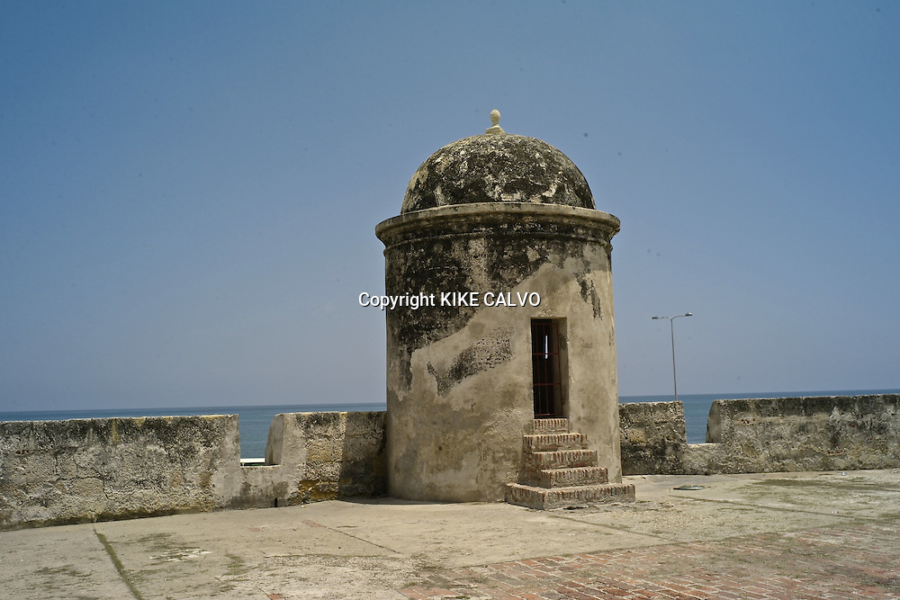 Historical walls.Cartagena of Indies. Colombia.