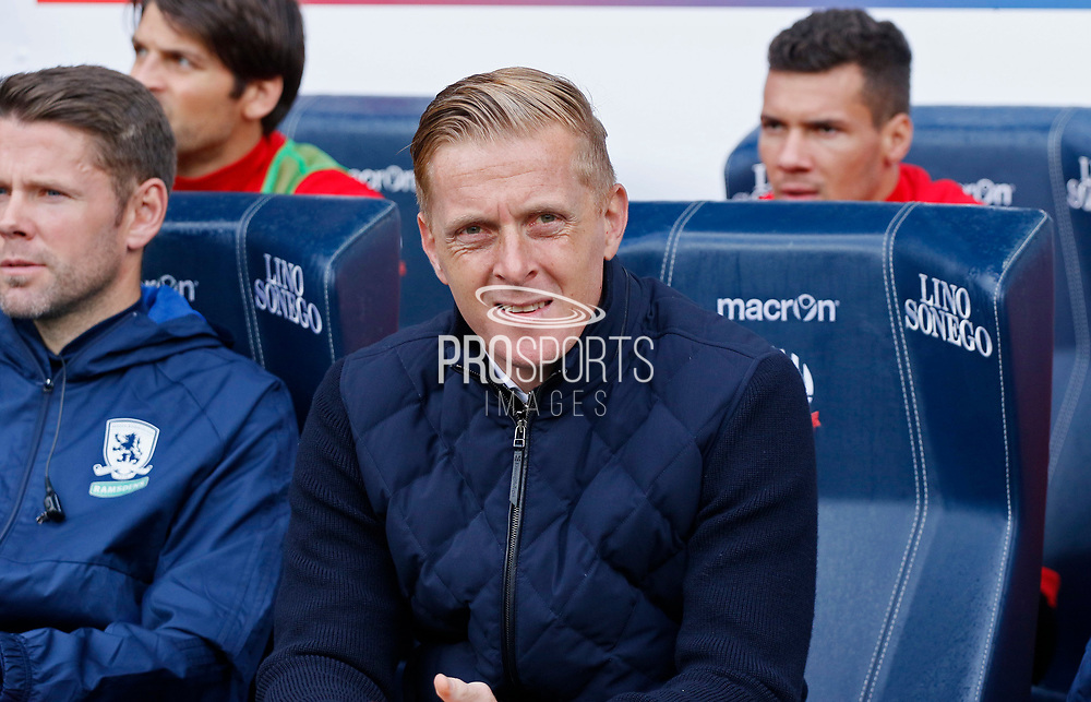 Gary Monk Manager of Middlesbrough during the EFL Sky Bet Championship match between Bolton Wanderers and Middlesbrough at the Macron Stadium, Bolton, England on 9 September 2017. Photo by Paul Thompson.