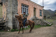 David Baghdasaryan rides a Karabakh horse on April 18, 2015 in Vank, Nagorno-Karabakh. Since signing a ceasefire in a war with Azerbaijan in 1994, Nagorno-Karabakh, officially part of Azerbaijan, has functioned as a self-declared independent republic and de facto part of Armenia, with hostilities along the line of contact between Nagorno-Karabakh and Azerbaijan occasionally flaring up and causing casualties.