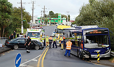 Auckland-One injured after car v bus on Swanson Road