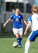 Vicky Jones (Everton Ladies) in action during the FA Women's Super League match between Durham Women FC and Everton Ladies at New Ferens Park, Belmont, United Kingdom on 30 August 2015. Photo by George Ledger.