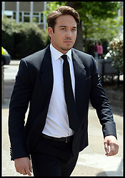 Image ©Licensed to i-Images Picture Agency. 27/06/2014. London, United Kingdom. TOWIE star James Lock arrives at Romford Magistrates Court, after allegedly being charged with drug possession. Picture by Andrew Parsons / i-Images