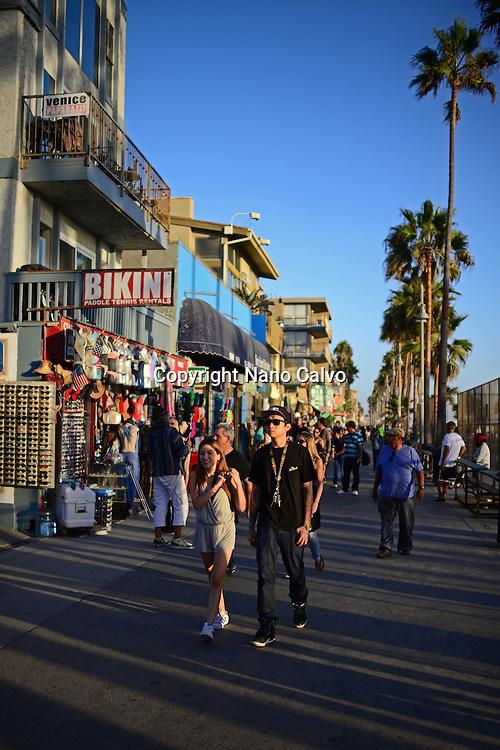 Venice Beach boardwalk, Los Angeles, California.