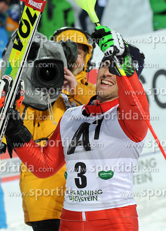 27.01.2015, Planai, Schladming, AUT, FIS Weltcup Ski Alpin, Schladming, Herren, Slalom, 2. Lauf, im Bild Stefano Gross of Italy // during the 2nd run of the men' s slalom of Schladming FIS Ski Alpine World Cup at the Planai in Schladming, Austria on 2015/01/27. EXPA Pictures © 2015, PhotoCredit: EXPA/ Erich Spiess