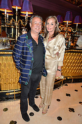 HAMISH McALPINE and CAROLE SILLER at a party to celebrate Pam Hogg receiving an honorary Doctorate from Glasgow University held at Park Chinois, 17 Berkeley Street, London on 11th July 2016.