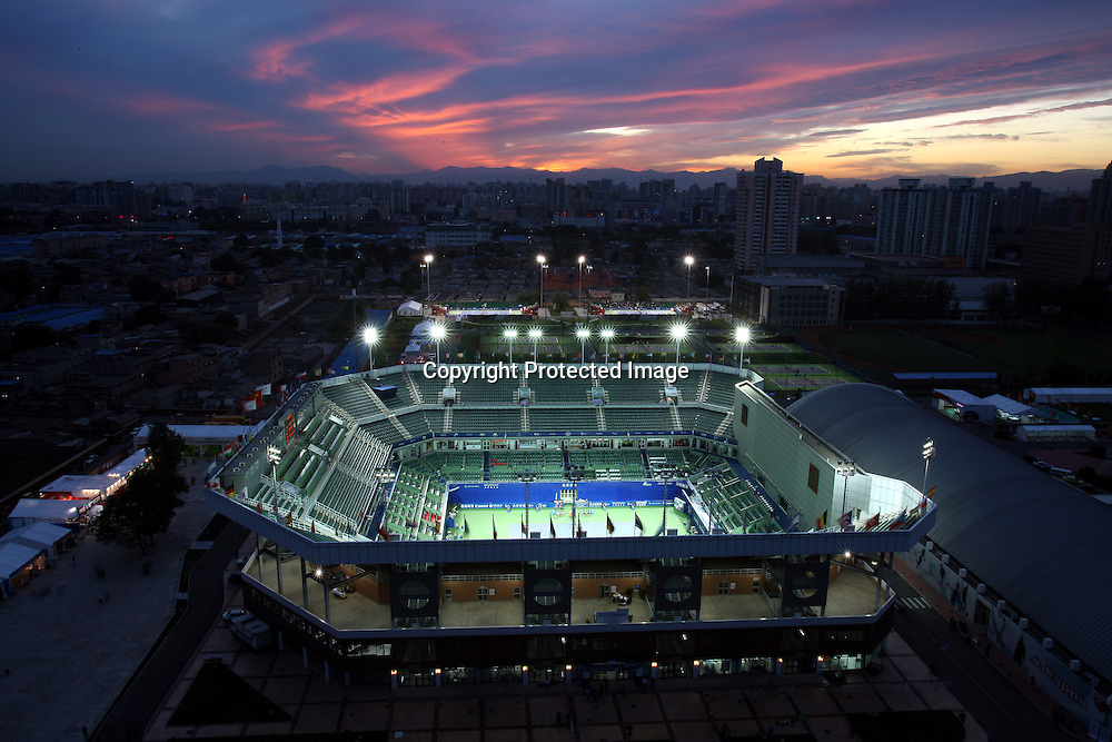 Sep 25, 2008, Beijing, China, A general view of the Beijing Tennis Center during China Open.