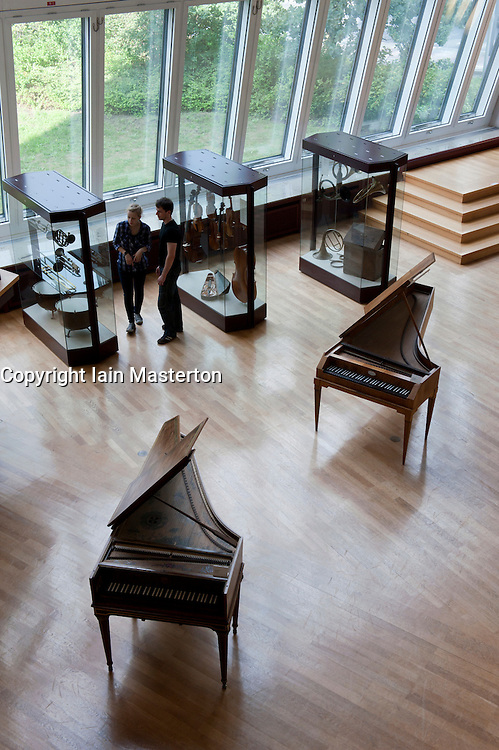 interior of Musikinstrumenten Museum or Museum of Musical Instruments in Mitte Berlin Germany