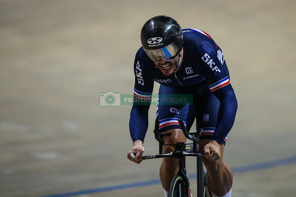 March 1, 2019 - Pruszkow, Poland - Quentin Lafargue of France on his way to winning the gold medal in the Mens 1 km time trial on day three of the UCI Track Cycling World Championships held in the BGZ BNP Paribas Velodrome Arena on March 01, 2019 in Pruszkow, Poland. (Credit Image: © Foto Olimpik/NurPhoto via ZUMA Press)