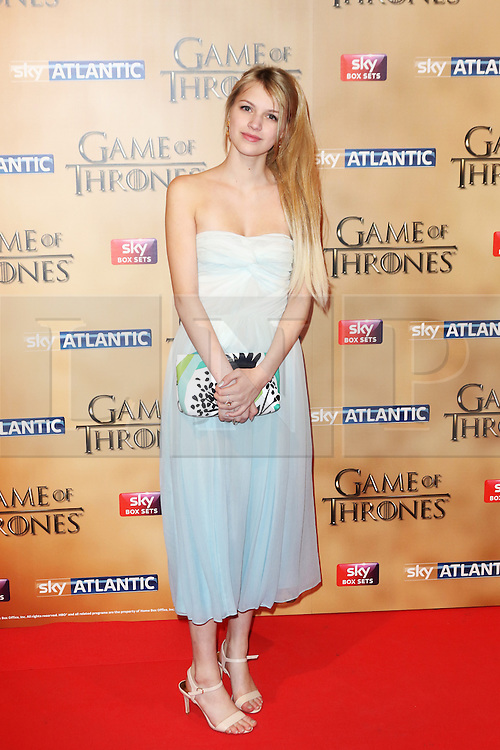 © Licensed to London News Pictures. 18/03/2015, UK. Ian Nell Tiger Free (Myrcella Baratheon), Game of Thrones - Series Five World Premiere, Tower of London, London UK, 18 March 2015. Photo credit : Richard Goldschmidt/Piqtured/LNP